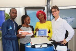 L'équipe présente la nouvelle version de l'appli weebi 30 novembre à Jokkolabs Dakar